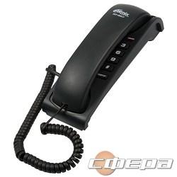 Телефон RITMIX RT-007 black проводной телефон повторный набор номера, настенная установка, регулятор громкости звонка - фото 2705369