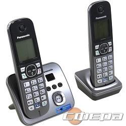 Телефон Panasonic KX-TG6822RUM (серебристый) Беспроводной DECT,громкая связь,автоответчик,определитель номера,телефонный справочник 120 зап. - фото 2718833