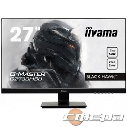 "Монитор IIYAMA 27"" G2730HSU-B1 черный TN+film Gaming LED 1920x1080 1ms 75Гц 16:9 1000:1 300cd 170гр/160гр DVI HDMI DisplayPort - фото 2718970"