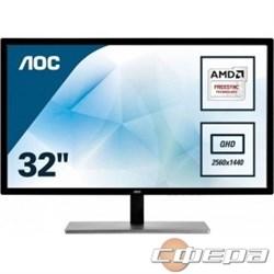 """Монитор LCD AOC  32"""" Q3279VWF Silver-Black VA LED 2560x1440 5ms 178/178 250cd 3000:1 DVI HDMI DisplayPort AudioOut - фото 2824302"""