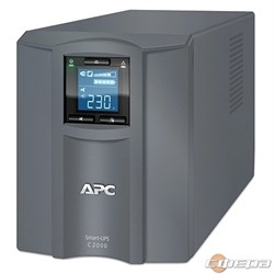 ИБП APC Smart-UPS C 2000VA SMC2000I-RS  ine-Interactive, 2000VA / 1300W, Tower, IEC, LCD, USB - фото 2837033