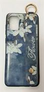 Накладка с кольцом и держатель Samsung A31, №3 цветы, Flower