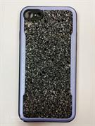 Силиконовый чехол Iphone 7/8 Elogo Design, насыщенные блестки, синий