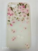 Силиконовый чехол Iphone 7 тактильные цветы, матовый, цветочки с листочками