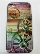 Задняя крышка Iphone 7 Remax деревянные колеса