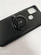 Накладка new iFace с кольцом с магнитом черная  Samsung A21s