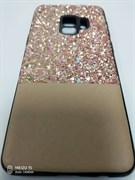 Чехол для SAMSUNG Galaxy S9, матовый, с розовыми блёстками