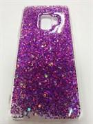 Задняя крышка Samsung G960F Galaxy S9 блестки звездочки, фиолетовая
