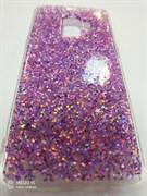 Задняя крышка Samsung G960F Galaxy S9 блестки звездочки, розовая