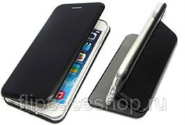 Чехол-книга   Samsung A50 с силиконовым основанием, черный