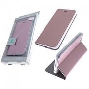 Чехол-книга Monarch Samsung S9 Plus с силикон основанием розовое-золото