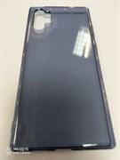 Силиконовый чехол под оригинал Samsung   Note 10 Plus прозрачно-синий