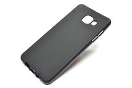 """Силиконовый чехол Samsung A510 Galaxy A5 2016 """"Matte Case"""" в тех. паке, черный"""
