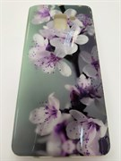 Силиконовый чехол Samsung A730 Galaxy A8+ 2018 фото-обои, цветы с фиолетовыми тычинками